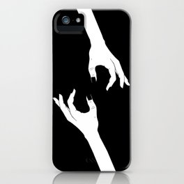 Hand-Drawn Hand Drawing iPhone Case