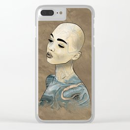 SeaBorn Gold Struck #3 Clear iPhone Case