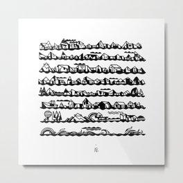 SCRIPT Metal Print