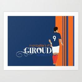Olivier Giroud: Montpellier - Les Bleus Art Print