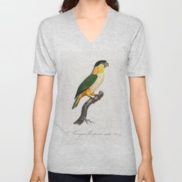 The Black-Headed Parrot from Natural History of Parrots (1801-1805) by Francois Levaillant Unisex V-Neck