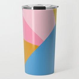 Cute Colorful Diagonal Color Blocking Travel Mug