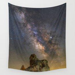 Milky Way over Trona Pinnacles Wall Tapestry
