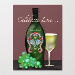 Celebrate Love Stationary by Christine Fournier Canvas Print