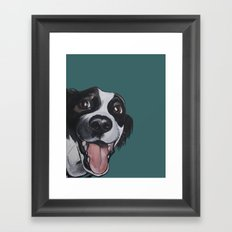 Maeby the border collie mix Framed Art Print