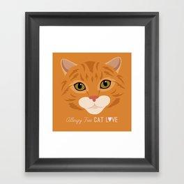 Allergy Free Cat Love: Ginger Tabby Framed Art Print
