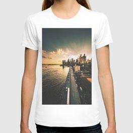 nyc skyline at dusk T-shirt