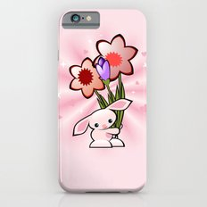 Little Pink Bunny With Flowers iPhone 6s Slim Case
