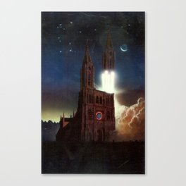 Poster for the International Space University session in Strasbourg Canvas Print