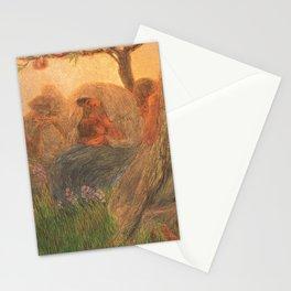 Maternità - Motherhood Angel Pastoral by Gaetano Previati Stationery Cards