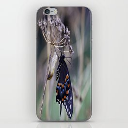 Butterfly emerging from cocoon iPhone Skin