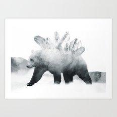Crystal Bear Art Print