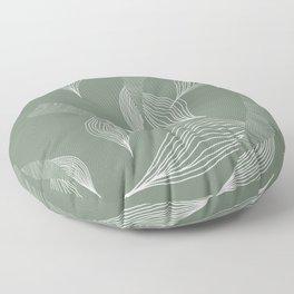 sage mermaids Floor Pillow