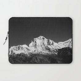 Monochrome Black and White Himalaya Mountain Range. Annapurna, Nepal. Nature Photography. Laptop Sleeve