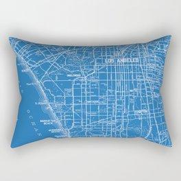 Los Angeles Street Map Rectangular Pillow