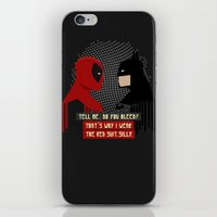 suit iPhone & iPod Skins featuring Red suit by Daniac Design