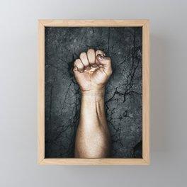Protest fist Framed Mini Art Print
