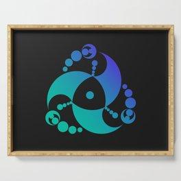 Trinity | Alien crop circle | Sacred geometry Serving Tray