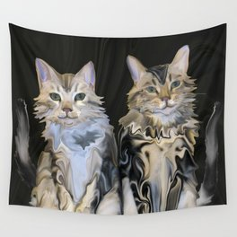 Marble Meows Wall Tapestry