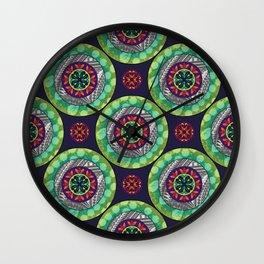 Mandala - Green - Gothic Pasifika Wall Clock
