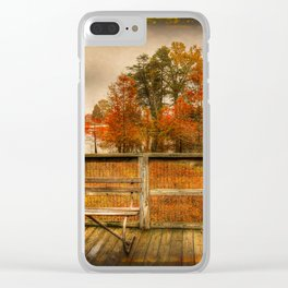 Autumn Colors in the Swamp Clear iPhone Case