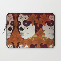 calavera Laptop Sleeves featuring Calavera by Eveline