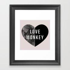 Love Monkey Framed Art Print