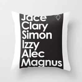 The Mortal Instruments' Main Characters Throw Pillow