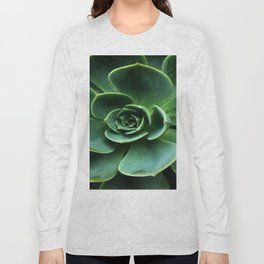 GRAY-GREEN CACTUS SUCCULENT ART Long Sleeve T-shirt