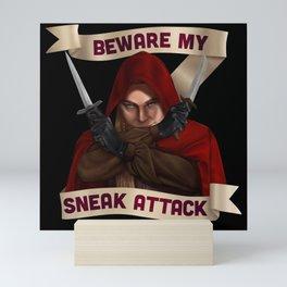 Rogue: Beware My Sneak Attack Mini Art Print