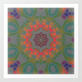 Fun with Coloring Infared Mandala Art Print
