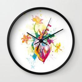 Nature beating Heart Wall Clock