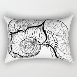 Nautilus Mandala Rectangular Pillow
