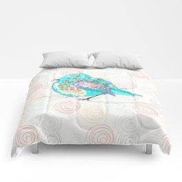 Quirk the Blue Bird Comforters