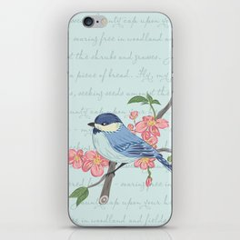 Blue Chickadee iPhone Skin
