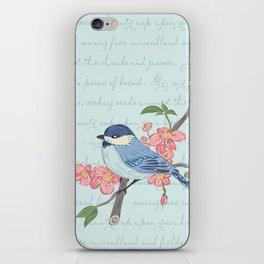 Blue Chickadee iPhone Skin