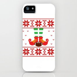 Elf christmas sweater Football iPhone Case