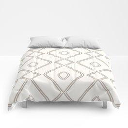 Modern Boho Ogee in Cream Comforters