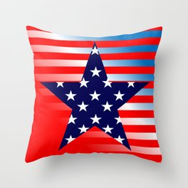 Patriotic American Symbols Throw Pillow