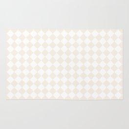 Small Diamonds - White and Linen Rug