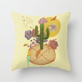 SPACE TIME DESERT Throw Pillow