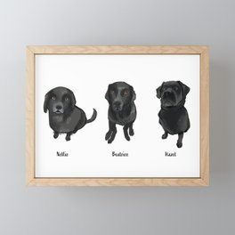 Emma's Pups Framed Mini Art Print