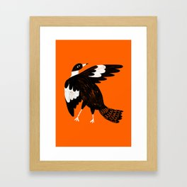 Maggie the magpie Framed Art Print