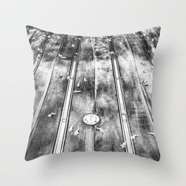 Truck Bed B&W Throw Pillow
