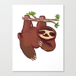 Adorable Sloth Canvas Print