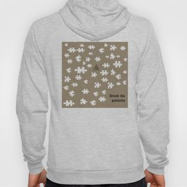 Image designed with caricature style to be used as a pattern. Break the rules and patterns Hoody