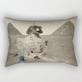 The Sphinx in time Rectangular Pillow