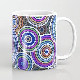 Colorfull Aboriginal Dot Art Pattern Coffee Mug