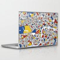 london Laptop & iPad Skins featuring London by Mondrian Maps