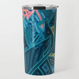 tropical leaves abstract 1 Travel Mug